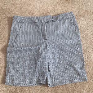 Black & White Patterned Shorts